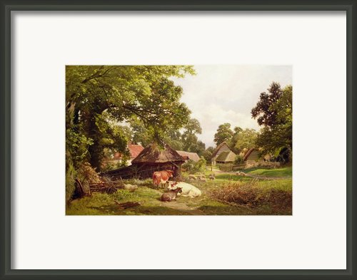 A Cottage Home In Surrey Framed Print By Edward Henry Holder