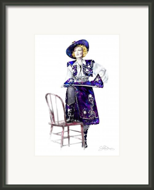 A Cowgirl Is A Cowgirl Is A Cowgirl Framed Print By Shirley Morris