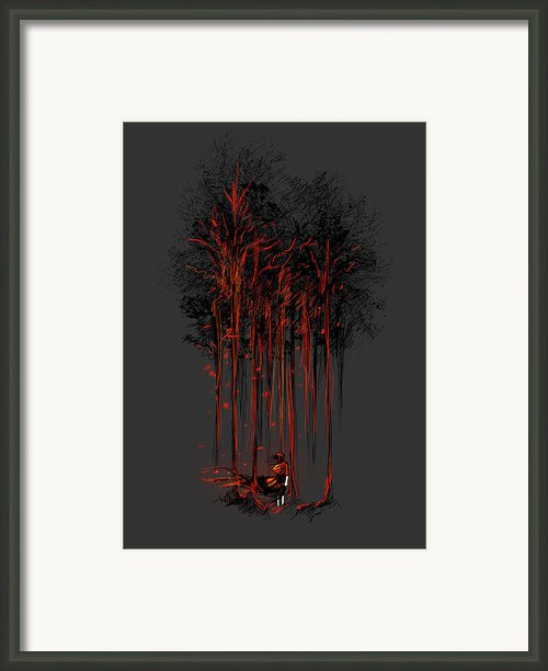 A Crimson Retaliation Framed Print By Budi Satria Kwan