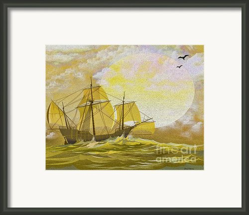 A Day At Sea Framed Print By Cheryl Young