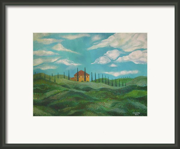 A Day In Tuscany Framed Print By John Keaton
