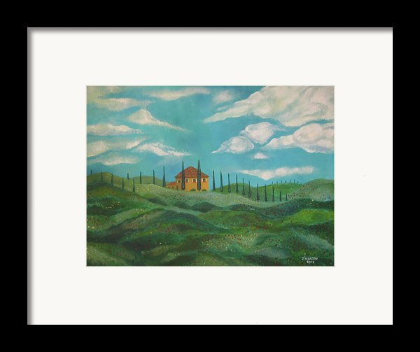 A Day In Tuscany Framed Print By John Keaton