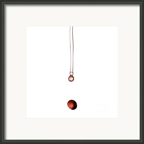 A Drop Of Wine Framed Print By Frank Tschakert