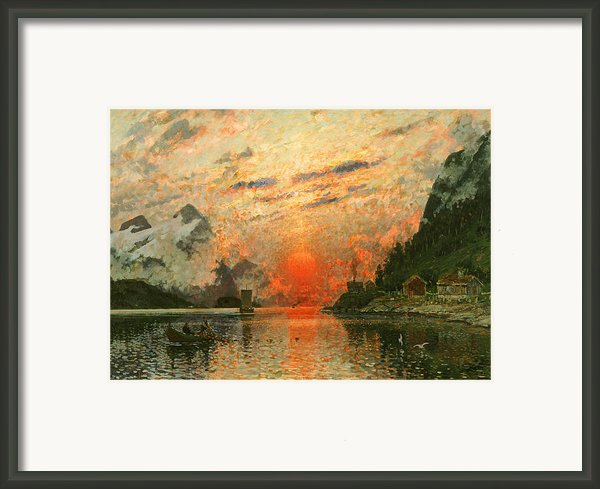A Fjord Framed Print By Adelsteen Normann