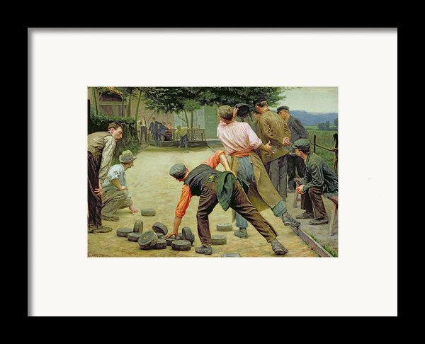 A Game Of Bourles In Flanders Framed Print By Remy Cogghe