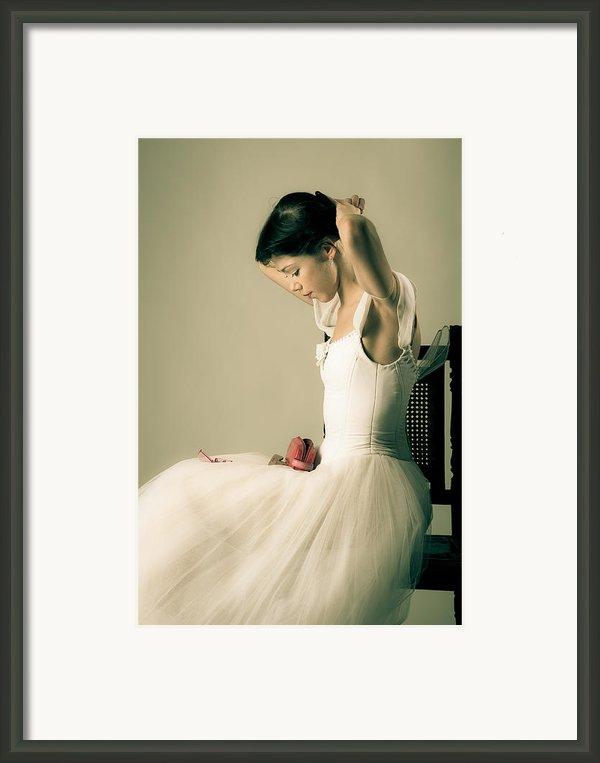 A Girl On A Chair Framed Print By Nikolay Krusser