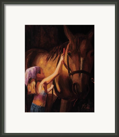 A Girls First Love Framed Print By Billie Colson