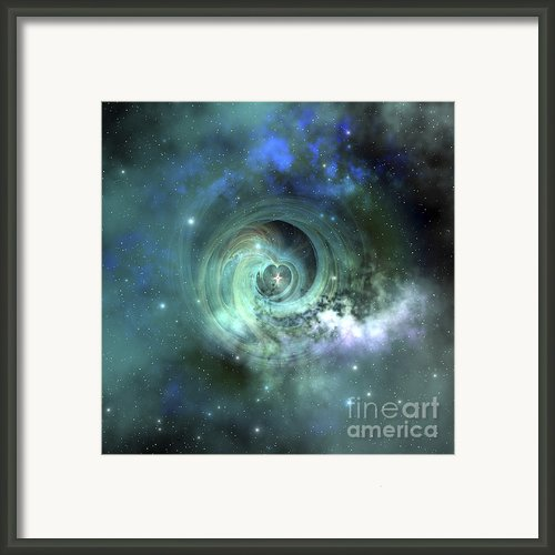A Gorgeous Nebula In Outer Space Framed Print By Corey Ford