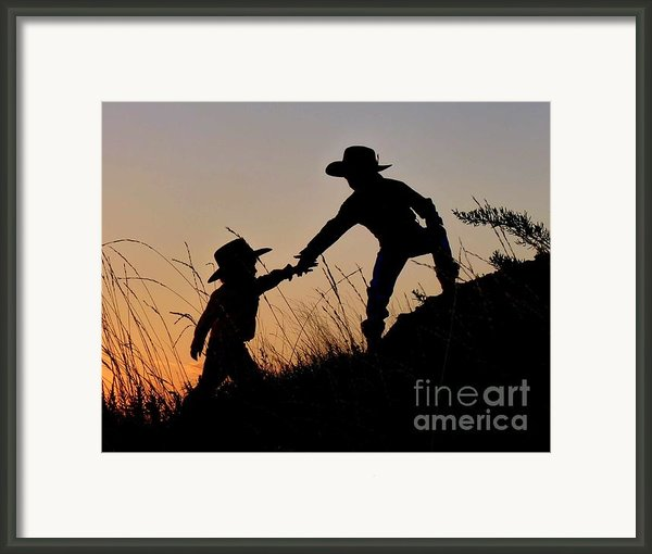 A Helping Hand Framed Print By Carla Froshaug
