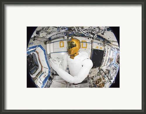 A Humanoid Robot In The Destiny Framed Print By Stocktrek Images