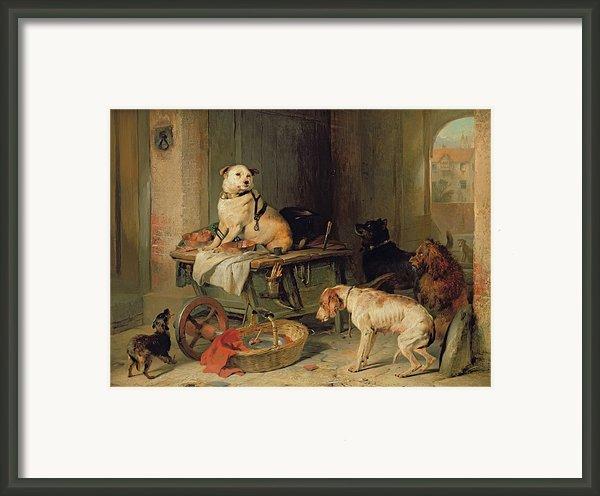 A Jack In Office Framed Print By Sir Edwin Landseer