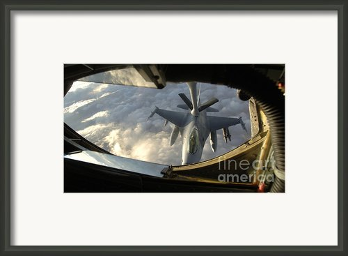 A Kc-135 Stratotanker Connects With An Framed Print By Stocktrek Images