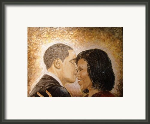 A Kiss For A Queen  Framed Print By Keenya  Woods