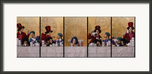 A Mad Tea-party From Alice In Wonderland Framed Print By Jose Luis Munoz Luque