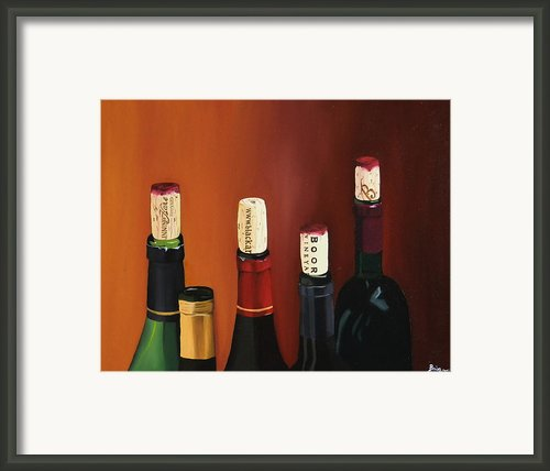 A Maryland Wine Party Framed Print By Brien Cole