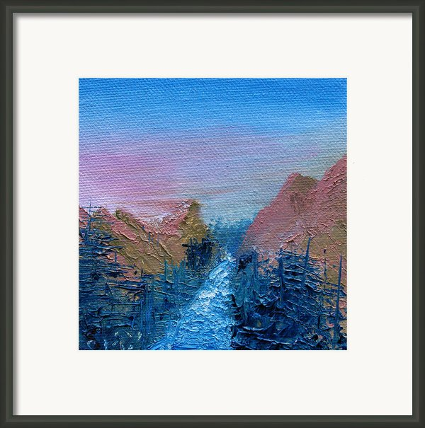 A Mighty River Canyon Framed Print By Jera Sky