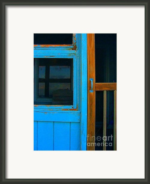 A Mom And Pop Stay On Topsail Island Framed Print By Julie Dant