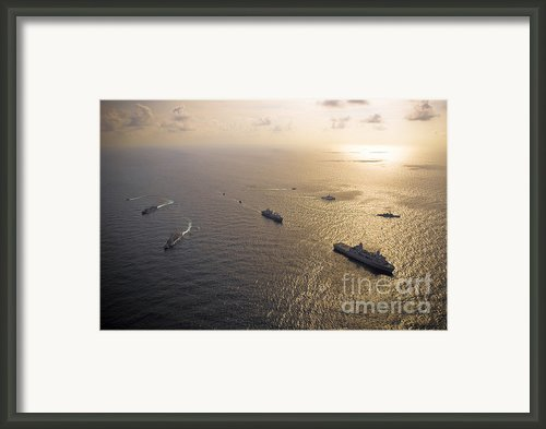 A Multi-national Naval Force Navigates Framed Print By Stocktrek Images