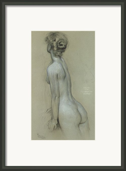 A Naiad In The Lament For Icarus Framed Print By Herbert James Draper