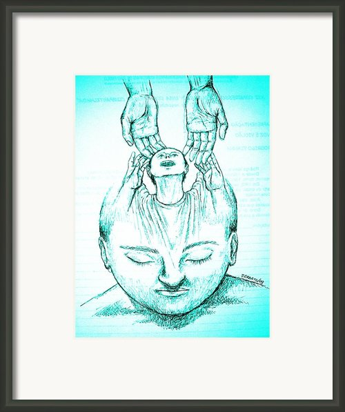 A New Human Being Is Born Framed Print By Paulo Zerbato