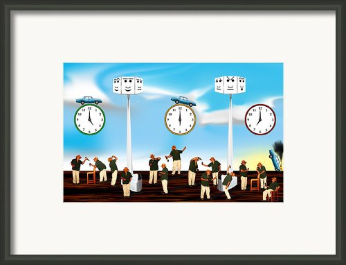 A Not So Happy Hour Tale Framed Print By Aw Sprague Ii