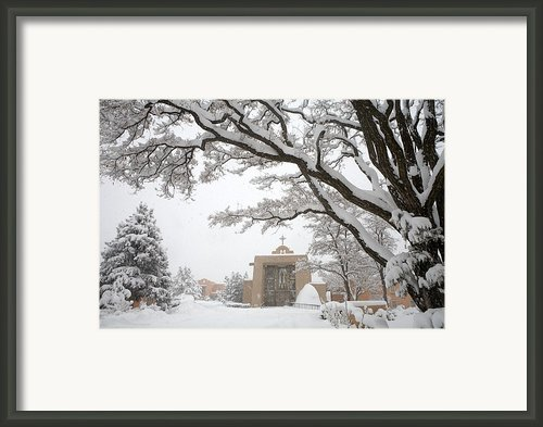 A Peaceful Winter Scene Framed Print By Ralph Lee Hopkins