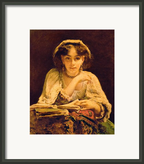 A Pensive Moment Framed Print By John Ballantyne