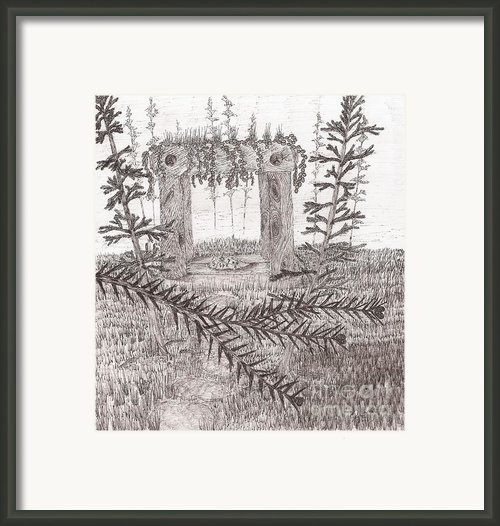 A Place For The Old Gods... - Sketch Framed Print By Robert Meszaros
