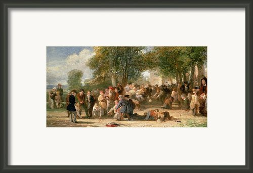 A School Playground Framed Print By Thomas Webster