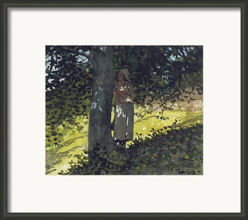 A Shady Spot Framed Print By Winslow Homer