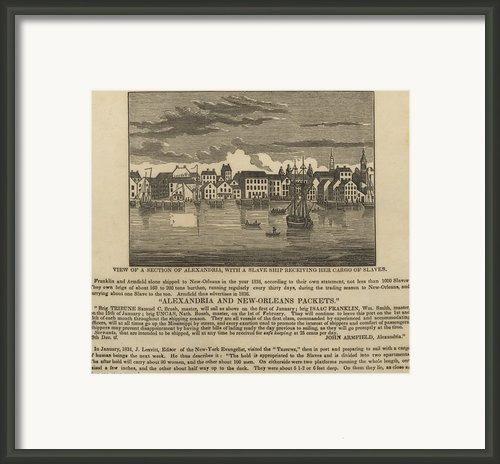 A Ship Of Slaves In 1836 Leaving Framed Print By Everett