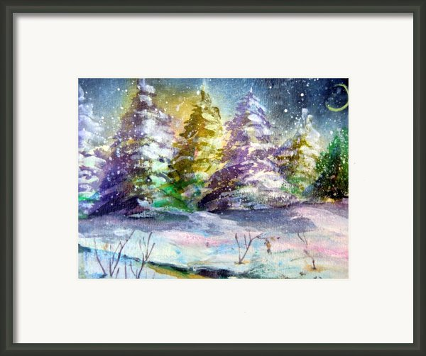 A Silent Night Framed Print By Mindy Newman