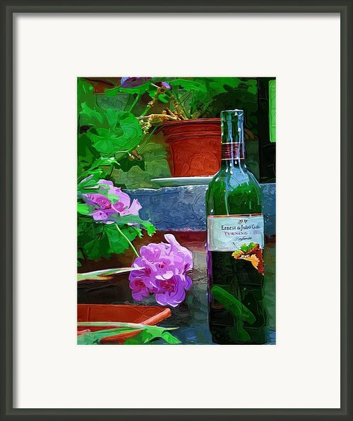 A Sip Of Wine Framed Print By Amanda Moore