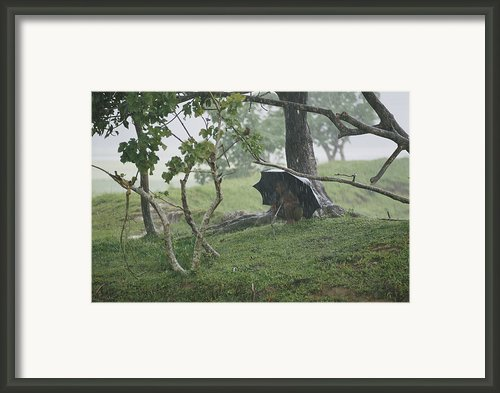 A Small Child Takes Refuge Framed Print By James P. Blair