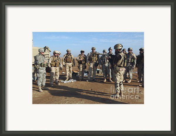 A Soldier Teaches How To Properly Framed Print By Stocktrek Images