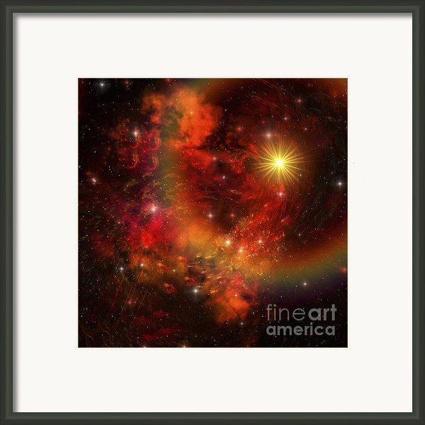 A Star Explodes Sending Out Shock Waves Framed Print By Corey Ford