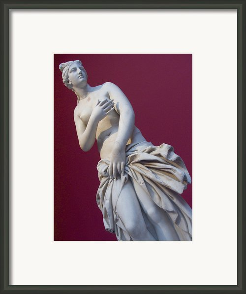 A Statue Of Aphrodite At The Acropolis Framed Print By Richard Nowitz