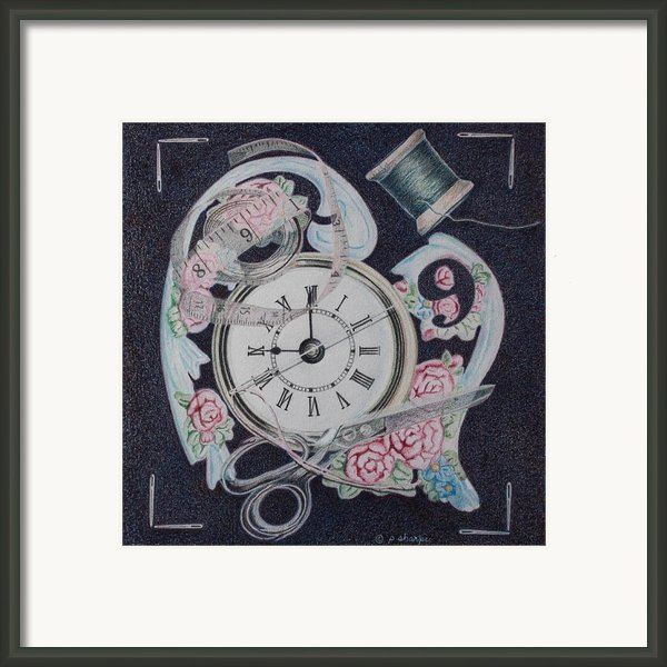 A Stitch In Time Framed Print By Patsy Sharpe