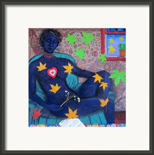 A Sudden Gust Of Wind Blows A Rhapsody In Blue Framed Print By Susan Stewart