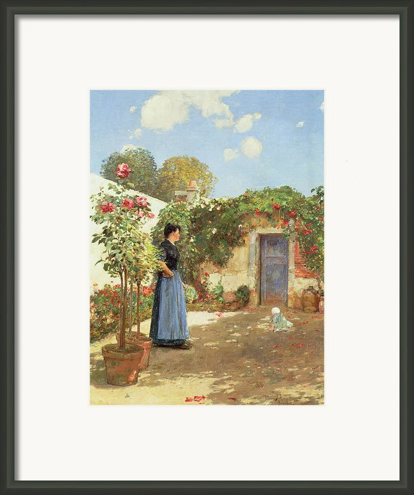 A Sunny Morning Framed Print By Childe Hassam