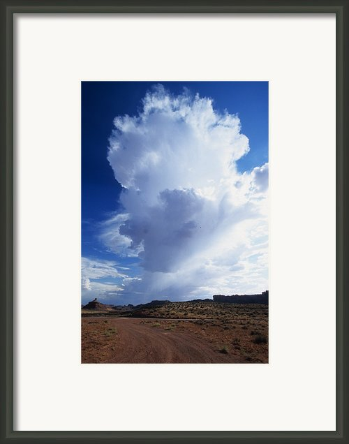 A Thunderstorm Building Up Framed Print By David Edwards
