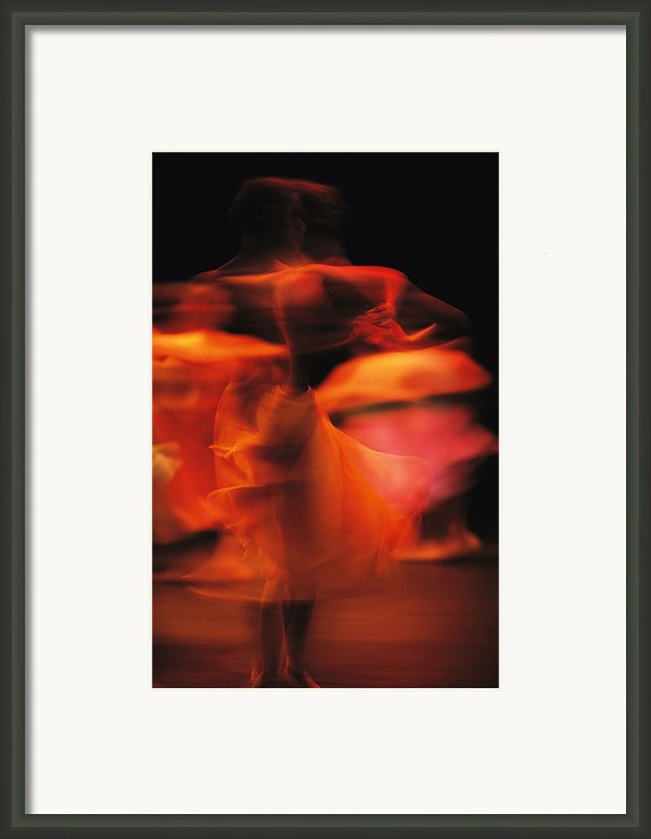 A Time-exposed View Of A Performance Framed Print By Michael Nichols