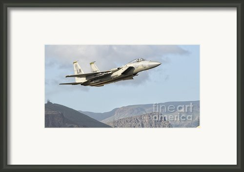 A U.s. Air Force F-15c Eagle In Flight Framed Print By Giovanni Colla