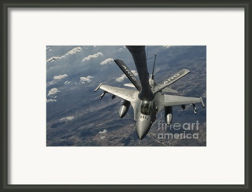 A U.s. Air Force F-16c Block 50 Framed Print By Giovanni Colla