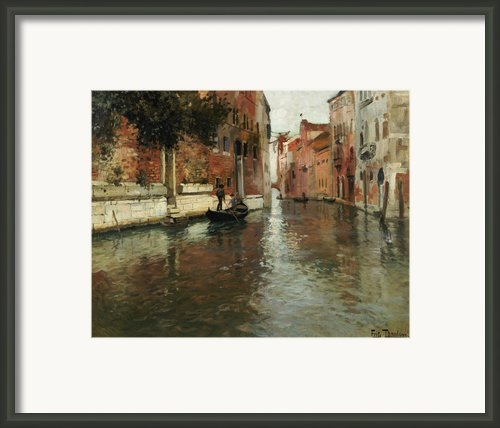 A Venetian Backwater  Framed Print By Fritz Thaulow