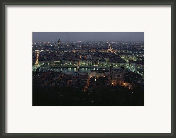 A View Of Lyon Between The Pont De La Framed Print By James L. Stanfield
