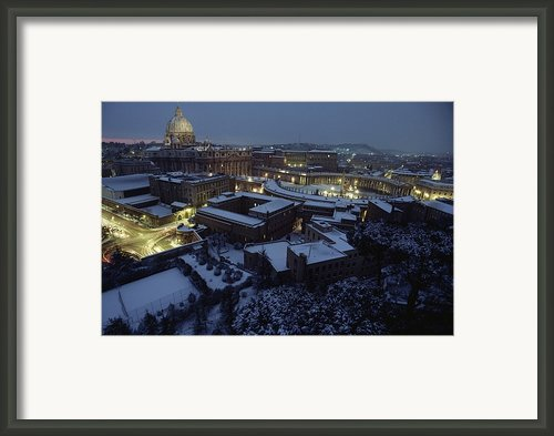 A View Of Vatican City In The Snow.  It Framed Print By James L. Stanfield