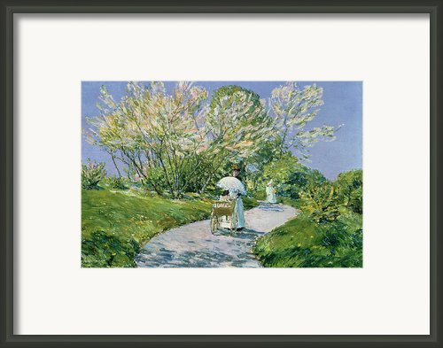 A Walk In The Park Framed Print By Childe Hassam