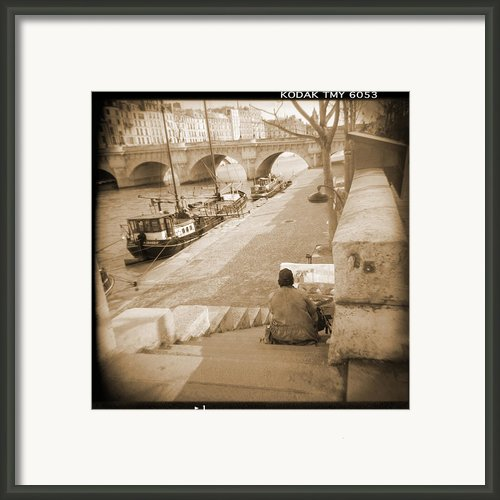 A Walk Through Paris 1 Framed Print By Mike Mcglothlen