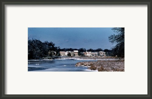 A Waterfront Christmas Framed Print By Skip Willits